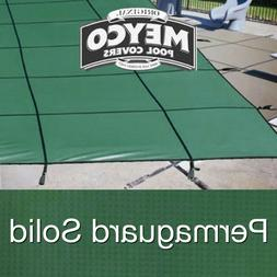 Meyco 16 x 32 Rectangle PermaGuard Green Safety Pool Cover w
