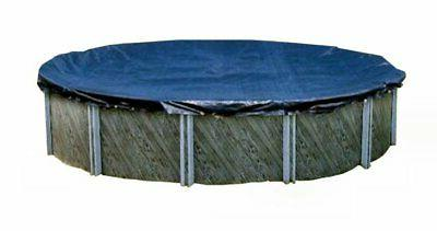 Swimline Ft Round Above Ground Winter Cover w/ 4'x8' Closing Air Pillow