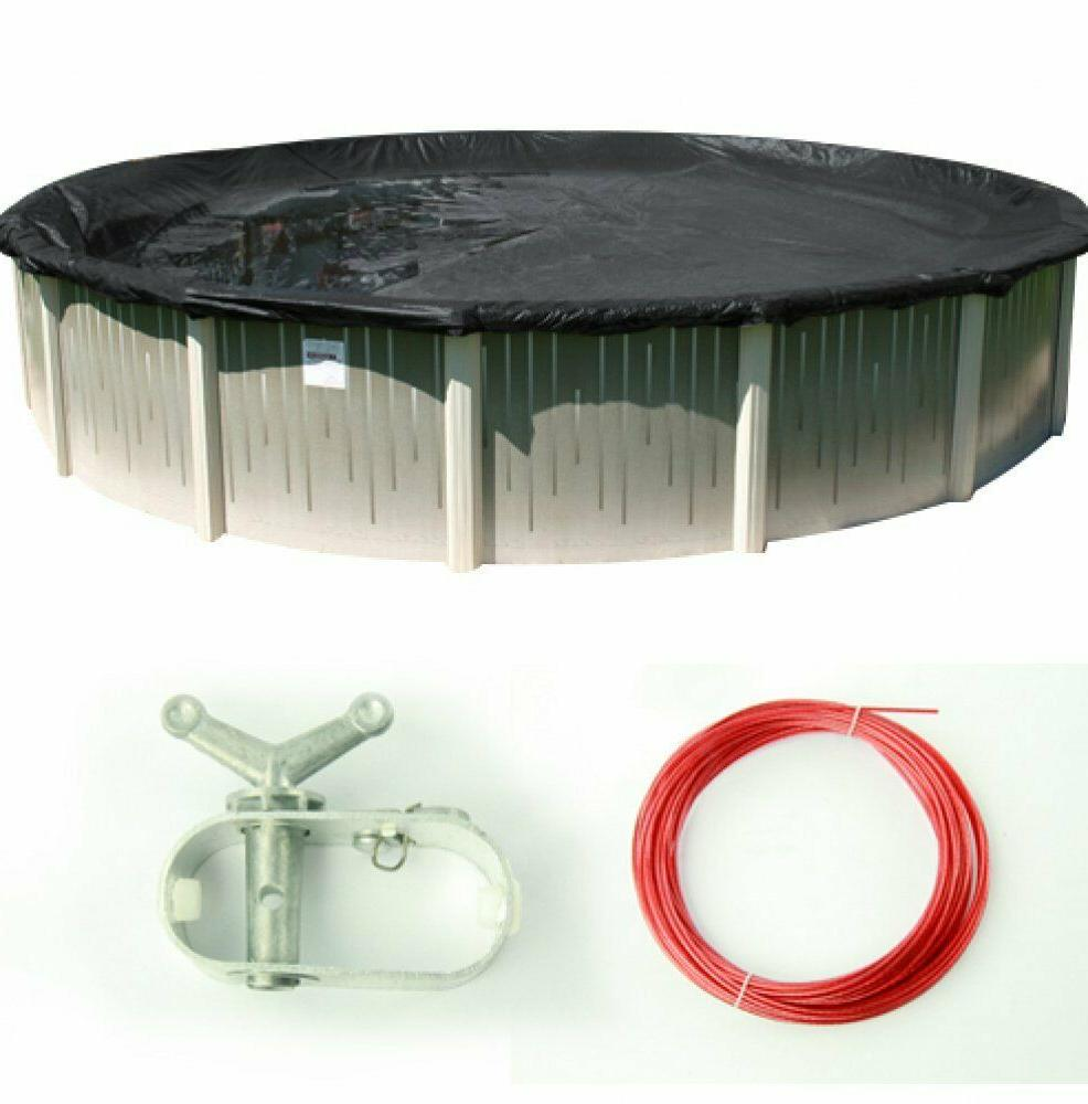 deluxe round above ground swimming pool winter