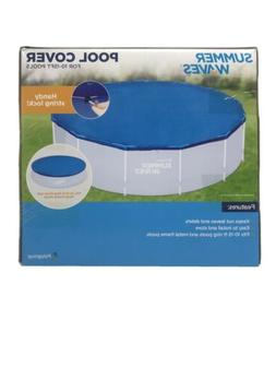 New Summer Waves Pool Cover For 8-10 Ft Pools W/ Handy Strin